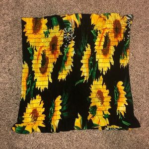 ribbed sunflower crop top